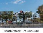 paris  france    november 7 ... | Shutterstock . vector #753823330