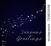 random falling stars season's... | Shutterstock .eps vector #753823558