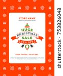 christmas sale poster design.... | Shutterstock .eps vector #753826048