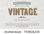 font. alphabet. script....   Shutterstock .eps vector #753826210