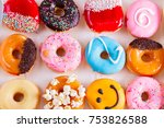Sweet Doughnuts Pastry In Box ...