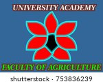 logo flower agriculture faculty ... | Shutterstock .eps vector #753836239