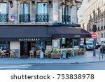 paris  france    november 7 ... | Shutterstock . vector #753838978