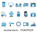 blue color series home devices... | Shutterstock .eps vector #753839209
