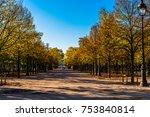 the tulerie gardens in paris on ... | Shutterstock . vector #753840814