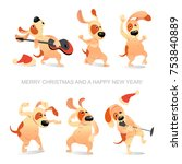 New Year's Card With Funny...