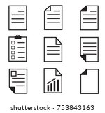 paper icon on white background. ... | Shutterstock .eps vector #753843163