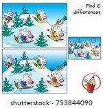 funny rabbits doing skiing