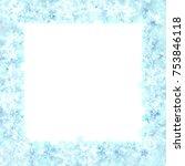 blue christmas snowflake frame | Shutterstock .eps vector #753846118