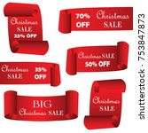 christmas sale paper banners ...   Shutterstock .eps vector #753847873