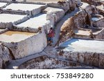 maras salt ponds located at the ... | Shutterstock . vector #753849280
