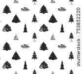 magic vector fir forest with... | Shutterstock .eps vector #753852220