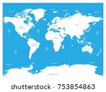 oceanographical map of world... | Shutterstock .eps vector #753854863