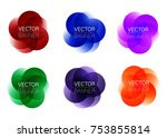 set of colorful round abstract... | Shutterstock .eps vector #753855814