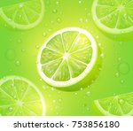 lime juice green background.... | Shutterstock .eps vector #753856180