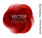 colorful round abstract banner... | Shutterstock .eps vector #753856258