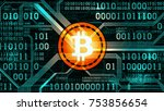 symbol of crypto currency... | Shutterstock .eps vector #753856654