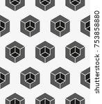 vector seamless pattern. modern ... | Shutterstock .eps vector #753858880