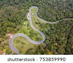winding path top view shot from ... | Shutterstock . vector #753859990