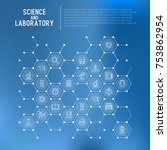 science and laboratory concept... | Shutterstock .eps vector #753862954