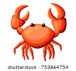 colorful red crab vector... | Shutterstock .eps vector #753864754