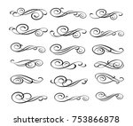 set design elements. vector... | Shutterstock .eps vector #753866878