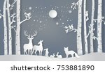 illustration of winter season... | Shutterstock .eps vector #753881890