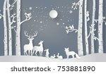 illustration of winter season... | Shutterstock .eps vector #753881890