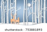illustration of winter season... | Shutterstock .eps vector #753881893