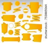 set of blank  empty retro... | Shutterstock .eps vector #753885064