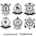 vintage award designs  vintage...   Shutterstock .eps vector #753885340