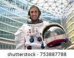 portrait of an astronaut just... | Shutterstock . vector #753887788
