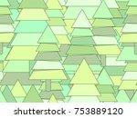 christmas tree seamless pattern ... | Shutterstock .eps vector #753889120