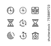 set of time  clock  watch ... | Shutterstock .eps vector #753889723