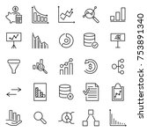 simple collection of analysis... | Shutterstock .eps vector #753891340