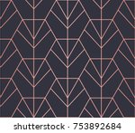 hexagon pattern. endless.... | Shutterstock .eps vector #753892684