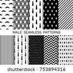 set of printable vector male... | Shutterstock .eps vector #753894316