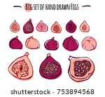hand drawn vector figs set. | Shutterstock .eps vector #753894568