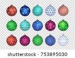 vector set of realistic... | Shutterstock .eps vector #753895030