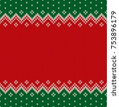 christmas design knitted... | Shutterstock .eps vector #753896179