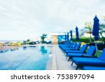 abstract blur outdoor swimming... | Shutterstock . vector #753897094
