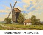 Oil Paintings Rural Landscape....