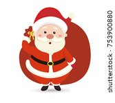 comic cartoon santa claus | Shutterstock .eps vector #753900880