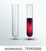vector transparent test tube... | Shutterstock .eps vector #753902830