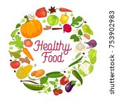 vegetables healthy food poster... | Shutterstock .eps vector #753902983