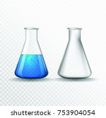 vector chemical flasks.... | Shutterstock .eps vector #753904054