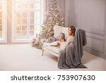 beautiful mother in the... | Shutterstock . vector #753907630