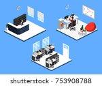 isometric 3d illustration set...   Shutterstock .eps vector #753908788