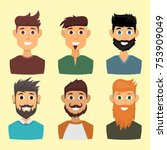 character of various... | Shutterstock .eps vector #753909049