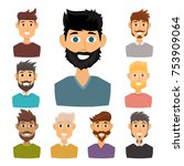 character of various... | Shutterstock .eps vector #753909064